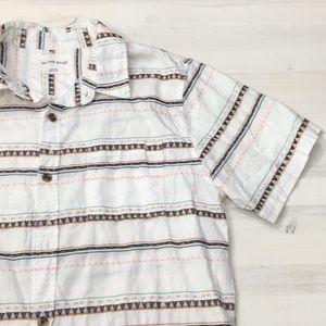 On The Byas short sleeve button down shirt sz M